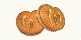 Печенье сахарное «Крендель» с шоколадно-ореховой начинкой