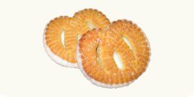 Печенье сахарное «Крендель» с глазированным дном