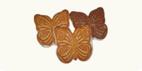 Печенье сахарное «Бабочки» с глазированным дном