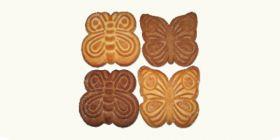 Печенье сахарное «Бабочки» с посыпкой
